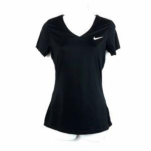 Nike Tops - NIKE Pro Black Dri-Fit V-Neck Activewear Shirt